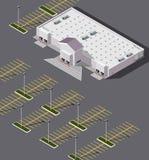 Tienda grande isométrica de la caja Imagenes de archivo