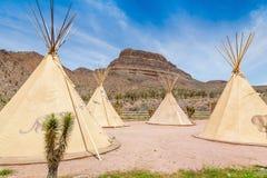 Tienda india nacional de indios americanos Imágenes de archivo libres de regalías