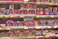 Tienda interior de los juguetes de los niños Fotos de archivo