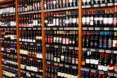 Tienda italiana del vino Fotos de archivo