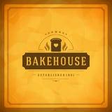 Tienda Logo Design Element de la panadería Fotos de archivo libres de regalías
