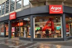 Tienda Londres de Argos Foto de archivo