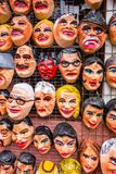 A tienda market selling polital and fun masks for an upcoming Stock Photo