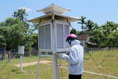 Tienda meteorológica Imagenes de archivo