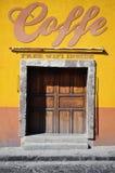 Tienda mexicana del coffe Fotografía de archivo libre de regalías
