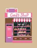 Tienda moderna del caramelo del vector Imagen de archivo libre de regalías
