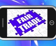 Tienda o compra Fairtrade de los medios de la tableta del comercio justo libre illustration