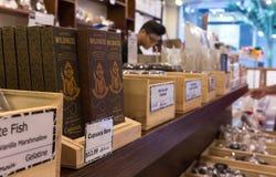Tienda orgánica del chocolate Imagen de archivo libre de regalías