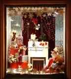 Tienda Pal Zileri Nizhny Novgorod del escaparate de la decoración de la Navidad Imagen de archivo libre de regalías