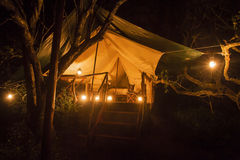 Tienda para acampar Foto de archivo