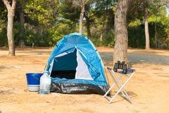 Tienda para acampar de la aventura Imagen de archivo