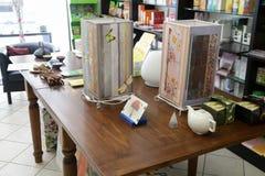 Tienda para los productos orgánicos en Roma Fotos de archivo libres de regalías