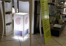 Tienda para los productos orgánicos en Roma Imagen de archivo