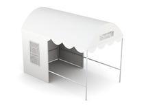 Tienda plegable de la visión superior aislada en el fondo blanco representación 3d Fotografía de archivo libre de regalías