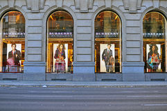 Tienda principal de Burberry, Barcelona, España Imagen de archivo
