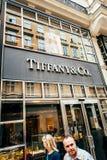 Tienda principal de Tiffany & Company Fotografía de archivo