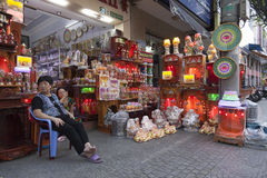 Tienda religiosa de los objetos foto de archivo