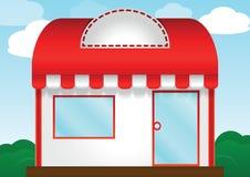Tienda roja del tejado Fotos de archivo