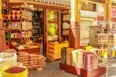 Tienda Souk Dubai de la especia imagen de archivo