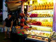Tienda tradicional de la fruta en Taiwán imagen de archivo libre de regalías