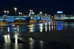 Noche del puente Foto de archivo