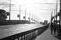 Tienda un puente sobre el 800o aniversario de Vologda Imagen de archivo libre de regalías