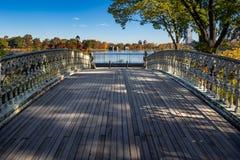 Tienda un puente sobre ningún 27, otoño del iin del Central Park, New York City Fotografía de archivo