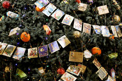 Tienda universal de la tubería interior (GOMA) en los días de fiesta de la Navidad (Año Nuevo), Plaza Roja, Moscú, Rusia Imagen de archivo