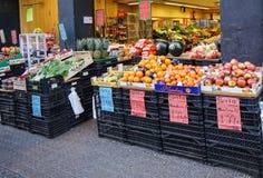 Tienda vegetal española Fotos de archivo libres de regalías