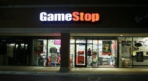 Tienda video de la parada del juego Imagen de archivo