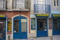 Tienda vieja en Lisboa Foto de archivo libre de regalías