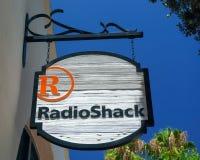 Tienda y muestra de Radio Shack fotografía de archivo libre de regalías