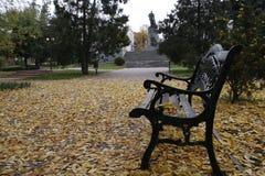 Tienda y otoño imagen de archivo libre de regalías