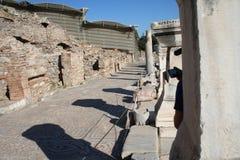 Tiendas bíblicas de Ephesus Foto de archivo libre de regalías