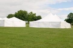Tiendas blancas del banquete de boda Imagen de archivo libre de regalías