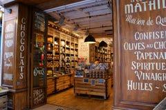 Tiendas de Aix en Provence fotografía de archivo libre de regalías