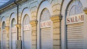 Tiendas de alimentación italianas Foto de archivo libre de regalías