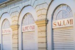 Tiendas de alimentación italianas Fotos de archivo
