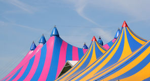 Tiendas de circo Imágenes de archivo libres de regalías