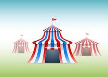 Tiendas de circo stock de ilustración