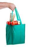 Tiendas de comestibles a disposición Foto de archivo libre de regalías