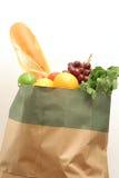 Tiendas de comestibles en blanco Fotos de archivo