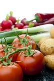 Tiendas de comestibles verdes Imágenes de archivo libres de regalías