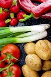 Tiendas de comestibles verdes Foto de archivo