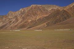 Tiendas de la alta altitud Foto de archivo libre de regalías