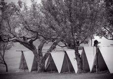 Tiendas de la guerra civil Imagen de archivo