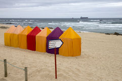 Tiendas de la playa Foto de archivo