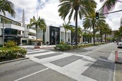 Tiendas de las compras en Beverly Hills Foto de archivo