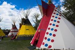 Tiendas de los indios norteamericanos Foto de archivo