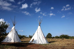 Tiendas de los indios norteamericanos Imágenes de archivo libres de regalías
